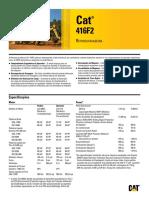 Retroescavadeira Cat 416f2 416