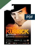 Stanley Kubrick exhibition press release