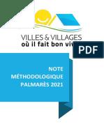 Note Méthodologique - Palmarès 2021 Des Villes Et Villages Où Il Fait Bon Vivre
