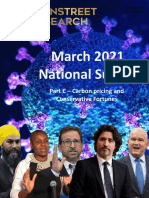 National Polling On Carbon Pricing/Conservatives - (March 24, 2021)