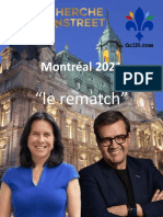 Montreal Mayoral - (March 25, 2021)