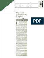 A fraude da patente unitária europeia - artigo JN 6-mar-2011