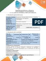 Guia de actividades y rúbrica de evaluación - Paso 3 - Planear el proyecto Identificación del proyecto y determinación de los recursos