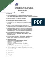 legislacion para el control sanitario de alimentos y normas de calidad en venezuela