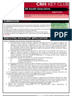 Executive Assistant 1112 Application