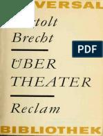 Über Theater by Bertolt Brecht