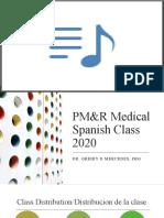 PM&R Medical Spanish Class 2020
