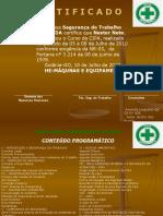 CERTIFICADO CURSO CIPA - MODELO 1