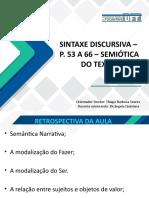 Aula Semiótica Sintaxe Discursiva p 53-66