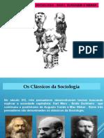 Revisão Clássicos Da Sociologia