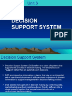 UNIT 6. Decision Support System