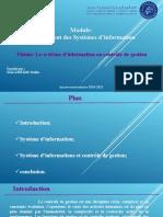 Thème 1 Système d'information en contrôle de gestion