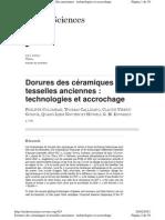 Colomban, P. Et Al. Dorures Ceramiques Et Tesselles Anciennes 2005