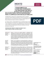 O TRATO COM O CONHECIMENTO DA  GINÁSTICA EM CLASSES MULTISSERIADAS