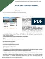 Causas y consecuencias de la caída de la primera república _ Historia _ Xuletas, chuletas para exámenes, apuntes y trabajos