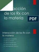 Interacción de los Rx con la materia