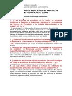 CUESTIONARIO LEY REGULADORA DEL PROCESO DE EXTRADICIÓN, DCTO. 28-2008 (1)