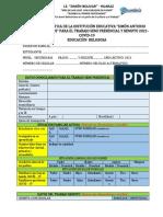 FICHA DIAGNOSTICA 2021 EDUC. RELIGIOSA