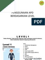 1. Penggunaan Apd Berdasarkan Level