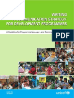 Writing a Communication Strategy for Development Programs