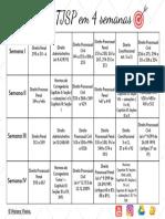 Cronograma Legislação TJSP em 4 semanas