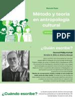 Lectura 10. Método y teoría en antropología cultural
