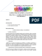 PRACTICA 2.Calibracion de Material Volumetrico