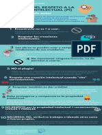 Infografía - Decálogo respeto a la propiedad intelectual y los derechos de autor.