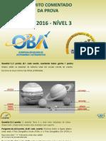 Prova nivel 3 da XIX OBA de 2016 - GABARITO POWER POINT_1