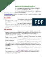 Pharmacokinetics An Intro