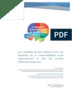 Las Campañas de Bien Público Como Una Expresión de La Responsabilidad Social Organizacional El Caso Del Consejo Publicitario Argentino - EJE 6