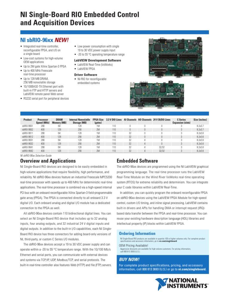 cat_sbRIO_96xx | Field Programmable Gate Array | Embedded System