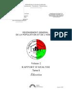 Recensement général de la population et de l'habitat - Education (INSTAT/1997)