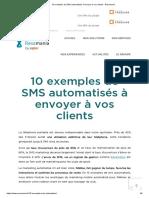 10 exemples de SMS automatisés à envoyer à vos clients - Resamania