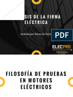 1 - Filosofía de pruebas en motores eléctricos