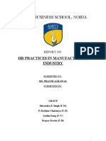 HR best practices in Manufacturing Industry