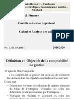 Méthodes de Calcul et Analyse des coûts