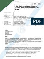 NBR 14852 - Artigo Textil Hospitalar - Atadura Gessada - Requisitos e Metodos de Ensaio