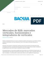 Mercados de B2B