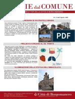 Notizie Dal Comune di Borgomanero del 9-04-2021