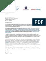 AZ Audit Letter by EAS Experts - 04.13.2021 - FINAL