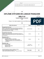 Exemple 1 Sujet Delf a1 Scolaire