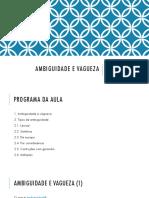 20180424 - Semântica - Aula 03 - Ambiguidade e Vagueza