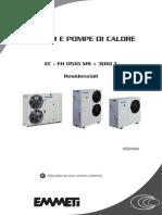 Schemi Elettrici Chiller EC - EH 0510 MS - 3010 T-Manuale Tecnico