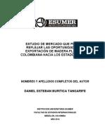 EXPORTACIÓN DE MADERA PLASTICA COLOMBIANA HACIA LOS ESTADOS UNIDOS