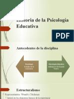 Historia de la Psicología Educativa