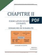 CHAP.ii Formulation de Béton