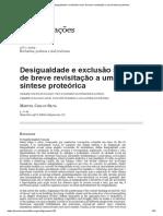Desigualdade e exclusão social_ de breve revisitação a uma síntese proteórica