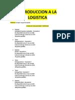 Introducción a La Logística (Apuntes)