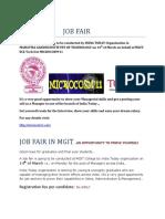 Job Fair in Mgit1